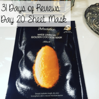 31 Days of Reviews, Day 20: JM Solution Water Luminous Golden Cocoon Mask Black