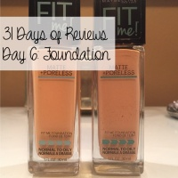 31 Days of Reviews, Day 6: Maybelline Fit Me Foundation Matte + Poreless