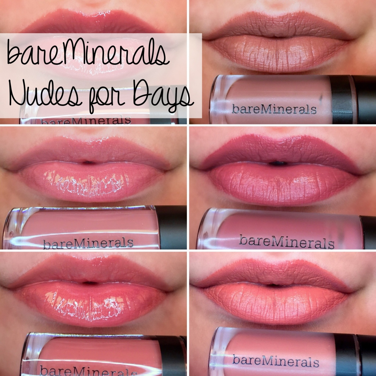 bareMinerals Nudes for Days: GEN NUDE Matte Liquid Lipcolor and Buttercream Lipgloss Reviews