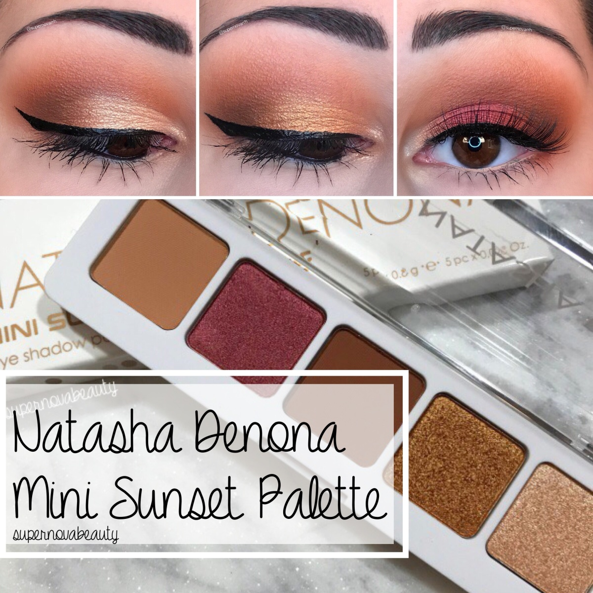 Natasha Denona Mini Sunset Palette | Review + 3 Looks