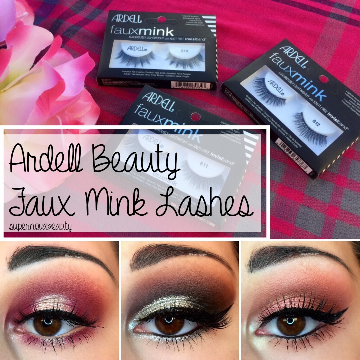 7a2aa8837e8 Ardell Beauty Faux Mink Lashes | Overview + Finished Looks – SUPERNOVABEAUTY