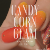 Candy Corn Glam Mani| Halloween 2018