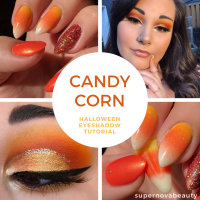 Candy Corn Halloween Eyeshadow Tutorial