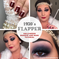 1920's Flapper makeup and mani tutorial | Halloween 2018