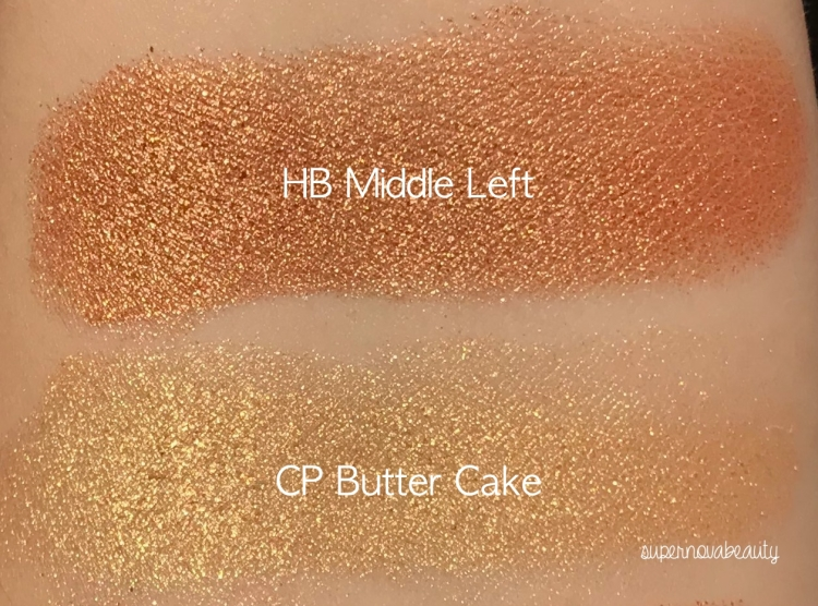 light gold swatches