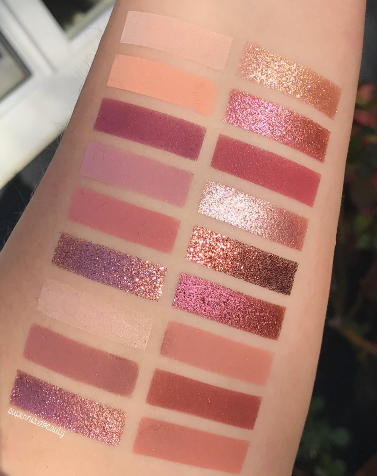 swatches in sun