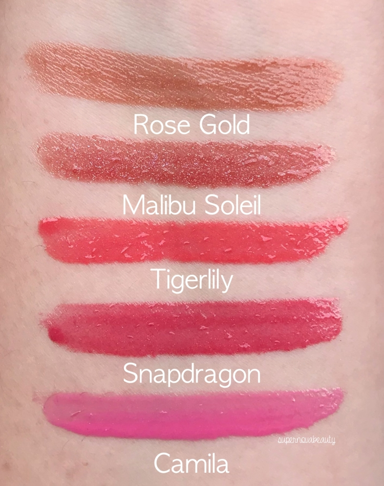 gloss swatches
