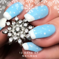 12 Days of Nailmas Day 4 | Snow Drift French