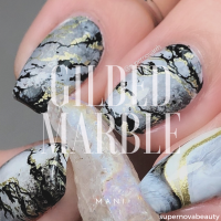 Gilded Marble Mani
