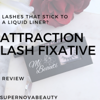 False Lashes Without a Glue? | Attraction Lash Fixative | Review