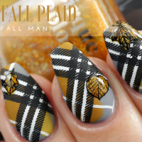 Fall Plaid | Fall Mani